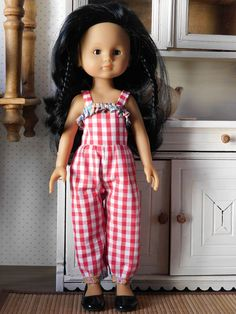 Barbie Knitting Patterns, Doll Patterns, American Girl, Doll Clothes, Jumpsuit, Costumes, Summer Dresses, Voici, Sewing