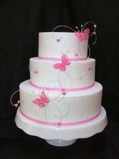 Hot Pink Fushia Crystal Erfly Side Wedding Cake Decorations All Colours Ebay