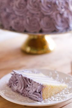 Lemon Layer Cake with Blueberry Lavender Buttercream - FROSTING RECIPE IS A DISASTER!!!!!!!!!!!!!!! Total FLop