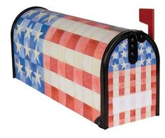"Quilted Flag Magnetic Mailbox Cover - Paul Brent by Carson. $9.95. These beautiful covers are made of durable fade resistant vinyl and will not crack or tear. Each mailbox cover and front face has attached magnetic strips and includes a sheet of vinyl numbers. Zip ties are also included. Fits standard mailboxes that measure 6.5""W x 19"" L. Mailboc cover and front face may be trimmed with scissors for a custom fit."