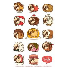 """Puglie get outta dem foods!"" Series Two :3 by pugliepug"