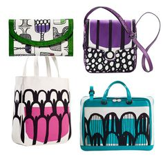 marimekko bags... I have the purple one! Still happy with it!