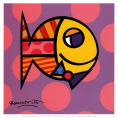 Striped Fish by Romero Britto Brazil Pop Modern Art Print Britto Art, Modern Art, Art Prints, Colorful Art, Fish Art, Fish Wall Art, Art, Framed Art Prints, Pop Art