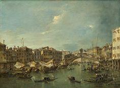 Francesco Guardi, Il Canal Grande con il Ponte di Rialto