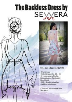 "eBook - ""The Backless Dress"" - Kleid - Sewera - Glückpunkt."