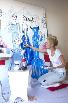 She has been painting since she was young and figured out she had a real passion for it early in her life