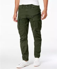 G-Star Raw Men's Rovic Straight Tapered Fit Cargo Pants - Dk Bronze Cargo Pants Outfit Men, Green Cargo Pants, G Star Raw, Men Street, Street Wear, Mens Cargo, Alternative Fashion, Mens Fashion, Fashion Edgy