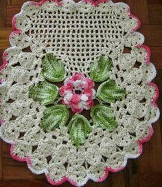 Criatividades em Crochê: Jogo de banheiro-Parte final-tampa do vaso