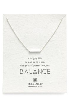 Dogeared Dogeared 'Balance' Bar Pendant Necklace