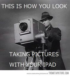 This is how you look taking pictures with your #iPad .  So in other words, #groovy . #LetsGetWordy