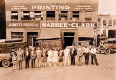 Jarrett's Printing Press & Barbee-Clark Tobacconists - on Lexington Ave in downtown Asheville.