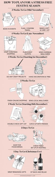 A Pair & A Spare   An Illustrated Guide to Planning for the Festive Season (so you don't freak out!)