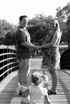 Family Maternity Photo- maybe this with the kids walking up from behind