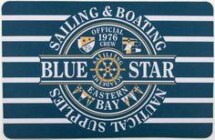 Nautical Star Sailing Floor Mat