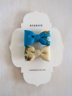 wee little embroidered bows