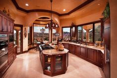 """cle to get the proper inspiration to decorate and design your Mediterranean Kitchen Design. So Checkout Charming Mediterranean Kitchen Design And Ideas"""" Luxury Kitchen Design, Luxury Kitchens, Cool Kitchens, Kitchen Designs, Custom Kitchens, Modern Kitchens, Dream Kitchens, Concept Kitchens, Tuscan Kitchens"""