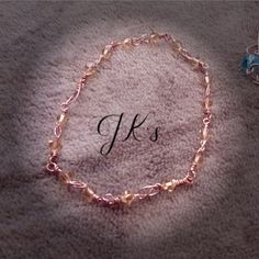Handmade bracelet with copper wire and crystals