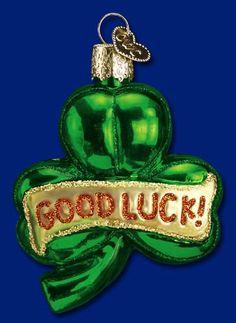 Lucky Shamrock Glass Ornament