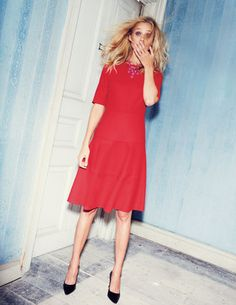 swinging a-line dress by  Boden