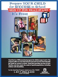 Los Angeles County Office of Education (LACOE) Head Start and Early Head Start, State Preschool Head Start Preschool, Head Start Classroom, Free Preschool, Early Head Start, Philosophy Of Education, Preschool Programs, Education Information, School Signs, Programming For Kids