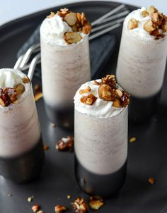 Toasted Almond Amaretto Milkshakes