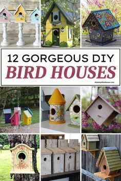 Add one of these fun DIY Birdhouses to your summer bucket list! Easy to make and perfect for any outdoor space these birdhouse projects are perfect for summer. Spring Projects, Cool Diy Projects, Craft Projects, Cool Bird Houses, Free Activities For Kids, Wooden Gifts, Summer Bucket, Summer Diy, Birdhouses