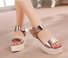 Free shipping! 2014 summer white platform sandals casual wedges platform shoes open toe shoes women's sandals high heel shoes