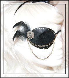Steampunk  Pirate Eyepatch by BlackUnicornShop on Etsy, €16.00