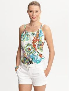 Trina Turk Crazy Botanical top | Banana Republic