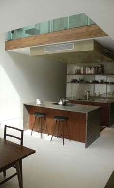 A Simple Kitchen in an Urban Townhouse.  Project by Peter Gluck & Partners