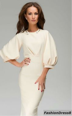 Ivory Maxi Dress WomanEvening Cocktail Elegant by FashionDress8