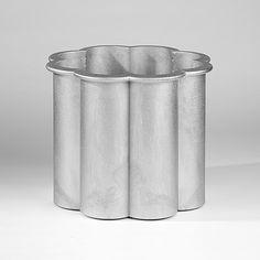 Gråsippa, flower pot in aluminium by Signe Persson-Melin.