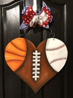 Hand Painted Wooden Door Hanger Go Team Door Hanger Sports Team Wreath Football Wreath Football Crafts, Football Wreath, Wooden Door Hangers, Wooden Doors, Metal Hangers, Wooden Signs, Dollar Store Crafts, Crafts To Sell, Football Door Hangers