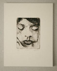 Drypoint etching 08.10.14 by mrchurchyard on Etsy