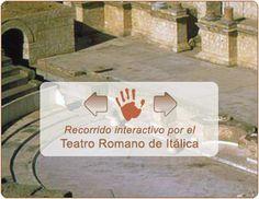 Visita virtual e interactiva al teatro romano de Itálica. #virtual #interactivo