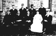 Black & white photo of the Administrative Staff of Claremont Hospital for the Insane, Western Australia, 1912 Roaring Twenties, The Twenties, Black White Photos, Black And White, Psychiatric Hospital, Historical Pictures, Hospitals, Asylum, Wall Street
