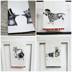 Hand Screen Printed Tea Towels by Ecarlate Boutique | The Pet Matchmaker Fave Five: June 2015