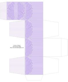 Fancy Pinstripe Printable Gift Box - JPGs saved in 4 colors. X