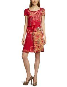 Desigual Dress Canada Red 31v2158/3029 Womens (S)