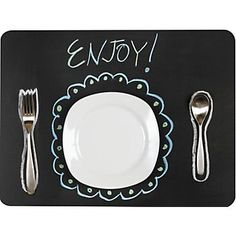 Chalkboard Placemat. #tablesettings