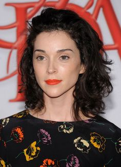 Annie Clark of St. Vincent.  Beautiful dewy skin and liner-less eyes.