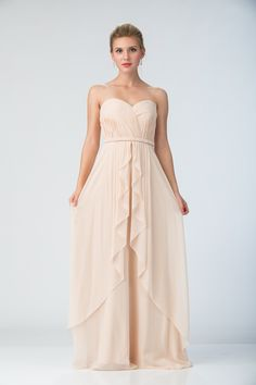 1870c89c89 This chiffon dress from Star Box highlights a ruched top and corset back.  Available in champagne