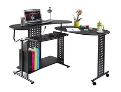 computer desk pc table folding home office furniture l shape black fold away black home office laptop