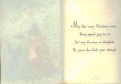 Vintage Hallmark Christmas Card Unused Wish by TheVintageGreeting, $5.45