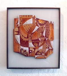 Phyllis Wallen Enamel on Copper Plaque Wall Decor, Wall Art, Enamels, Enamel Jewelry, Retro Art, Art Object, Polymer Clay, Art Gallery, Objects
