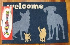 NEW JELLYBEAN INDOOR OUTDOOR RUG MACHINE WASHABLE 35% RECYCLED CATS AND DOGS