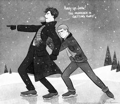 """""""Ice Chase"""" Did you delete ice skating from your mind as well, Sherlock?"""