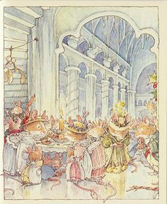 Brambly hedge by Jill Barklem. Illustration from the books. Beatrix Potter, Brambly Hedge, Watercolor Animals, Children's Book Illustration, Vintage Pictures, Hedges, Art For Kids, Fantasy Art, Fairy Tales