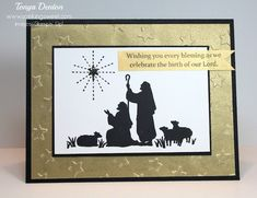 Every Blessing Christmas Card Sweet Page, Blessing, Nativity, Stampin Up, Christmas Cards, Scene, Homemade, Crafty, Blog