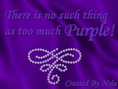 Too much purple? NOT! :)